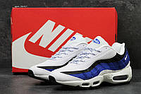 Кроссовки мужские Nike air max 95,белые с синим, фото 1