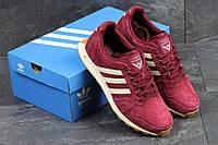 Мужские кроссовки Adidas Neo,замшевые,бордовые 44р, фото 1
