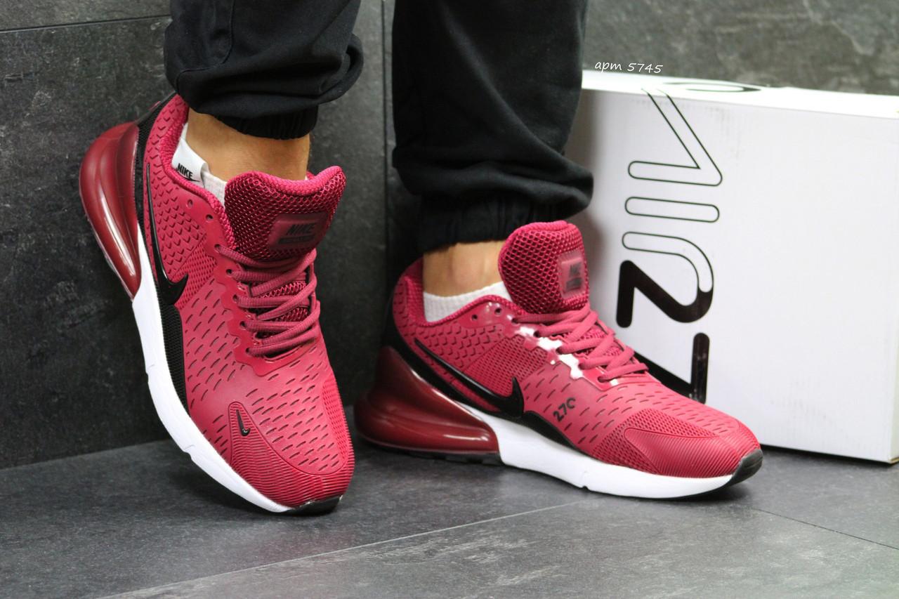 Мужские кроссовки Nike Air Max 270,бордовые 43,45,46р