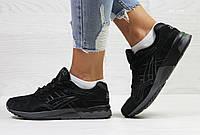 Женские,подростковые кроссовки Asics,замшевые,черные 36р, фото 1
