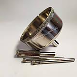 Алмазна Коронка по плитці і склу 60 мм, Коронка 60 мм з алмазним напиленням по склу та кераміці, фото 3