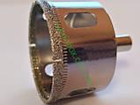 Алмазна Коронка по плитці і склу 60 мм, Коронка 60 мм з алмазним напиленням по склу та кераміці, фото 5