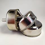 Алмазна Коронка по плитці і склу 60 мм, Коронка 60 мм з алмазним напиленням по склу та кераміці, фото 8