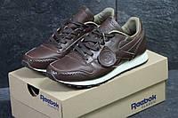 Мужские кроссовки Reebok кожаные,коричневые, фото 1