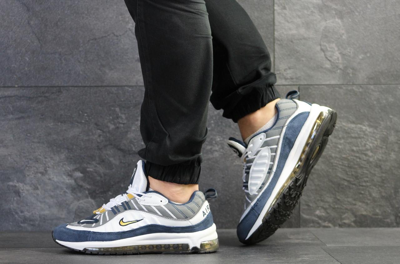 Мужские кроссовки Nike,синие с белым