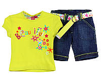 Детский летний комплект: футболка и бриджи для девочки 2, 3, 4 ,5 ,6, 7 лет Losan Испания