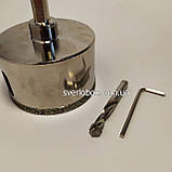 Коронка алмазная 40 мм по керамограниту с направляющим сверлом, фото 3