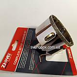 Алмазна Коронка по плитці і склу 60 мм з напрямних свердлом., фото 2