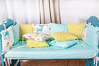 Бортики (защита) в детскую кроватку «Модена»