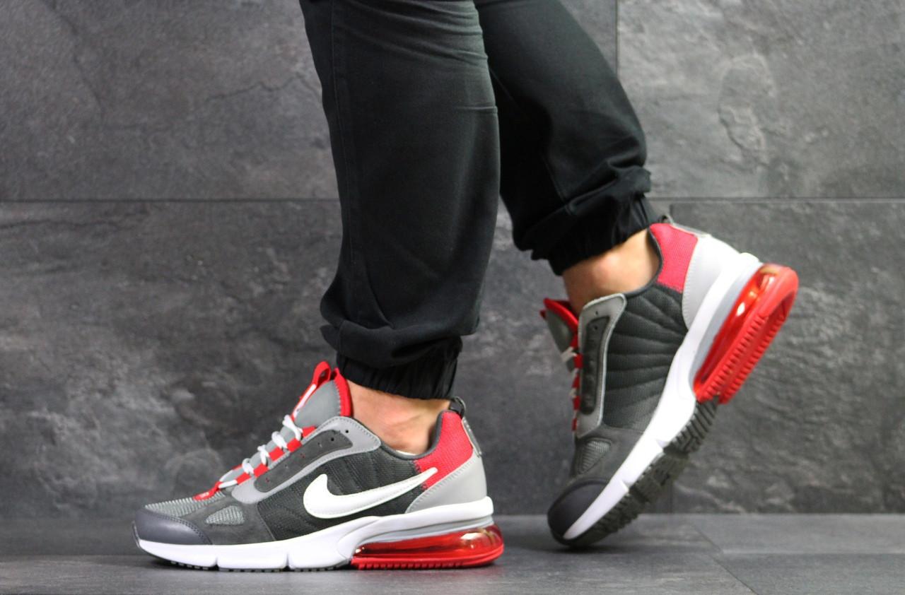 Мужские весенние кроссовки Nike,серые с красным