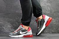 Мужские весенние кроссовки Nike,серые с красным, фото 1