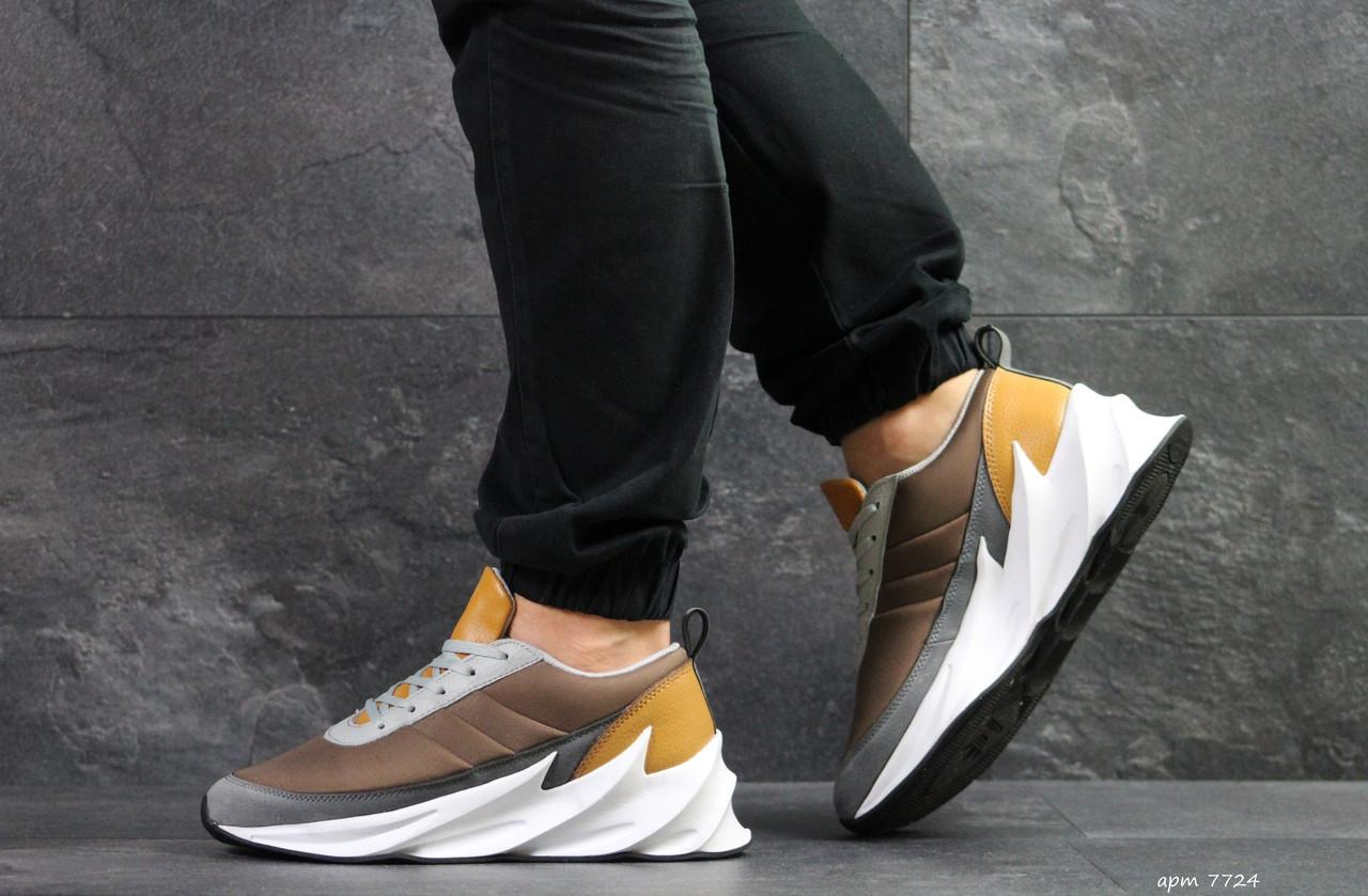 Мужские модные кроссовки Adidas Sharks,коричневые