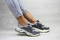 Женские,подростковые кроссовки Balenciaga(Баленсиага),серые, фото 1