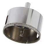 Коронка алмазная по плитке и стеклу 75 мм с направляющим сверлом., фото 4