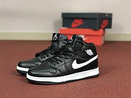 Подростковые кроссовки Nike Air Jordan 1 Retro,черно-белые