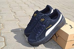 Кеды кроссовки синие подростковые Puma Rihanna (Румыния)