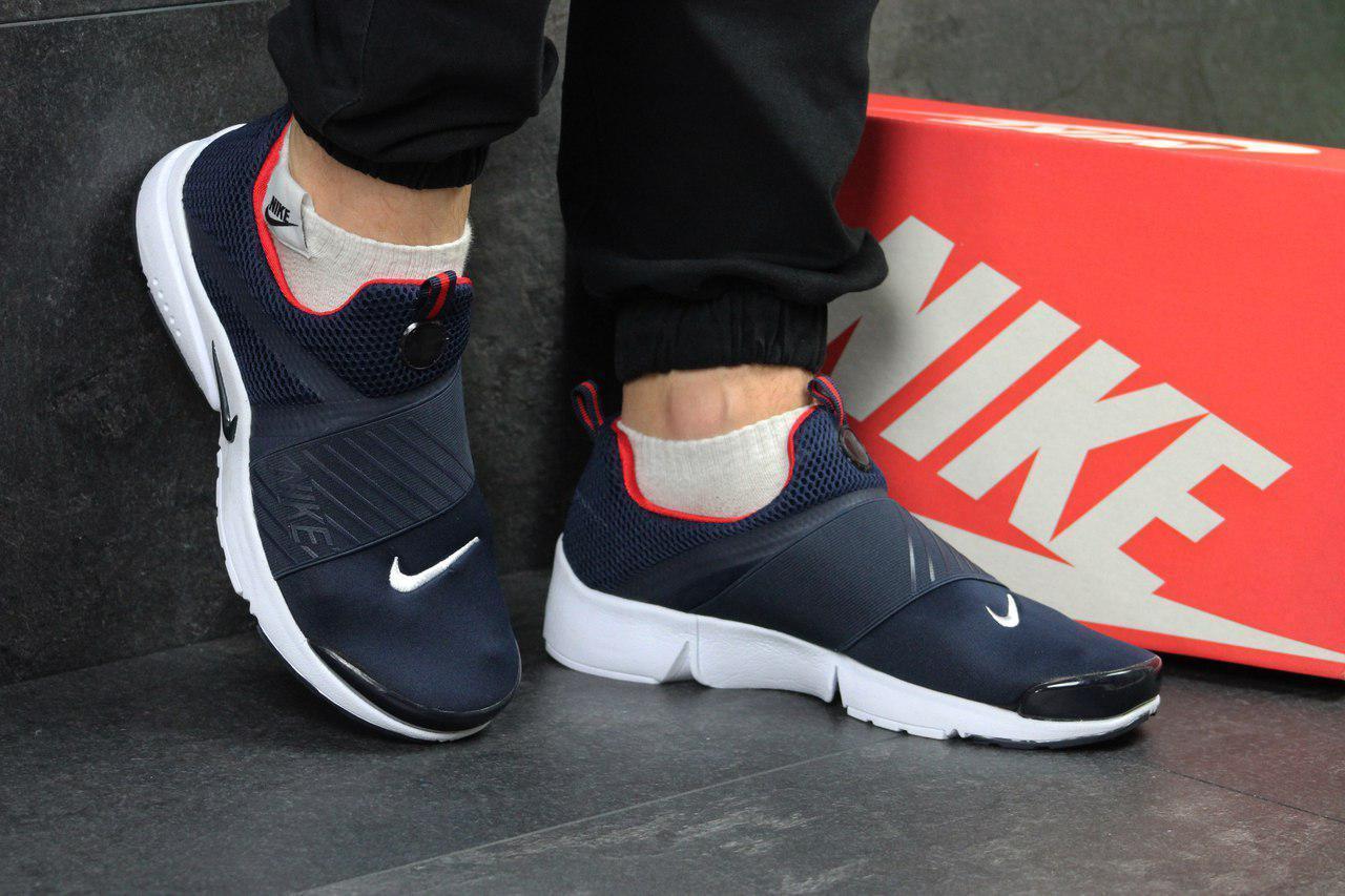 Кроссовки Nike air presto темно синие с белым