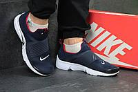 Кроссовки Nike air presto темно синие с белым, фото 1