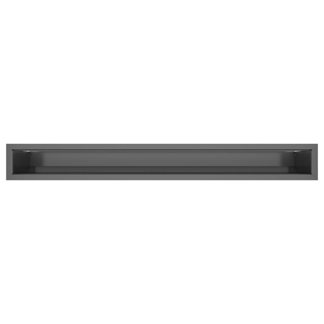 Вентиляційна решітка для каміна SAVEN Loft 90х800 графітова