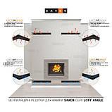 Вентиляційна решітка для каміна кутова ліва SAVEN Loft Angle 60х400х600 графітова, фото 5