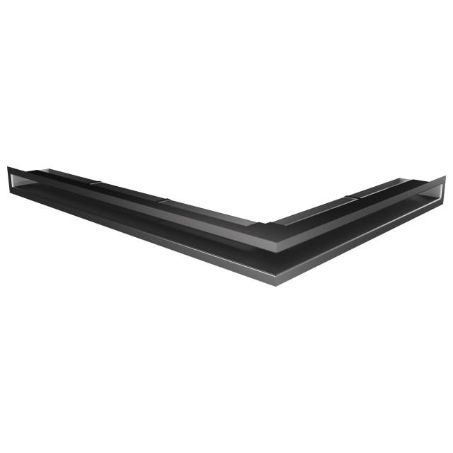 Вентиляційна решітка для каміна кутова ліва SAVEN Loft Angle 60х600х800 графітова