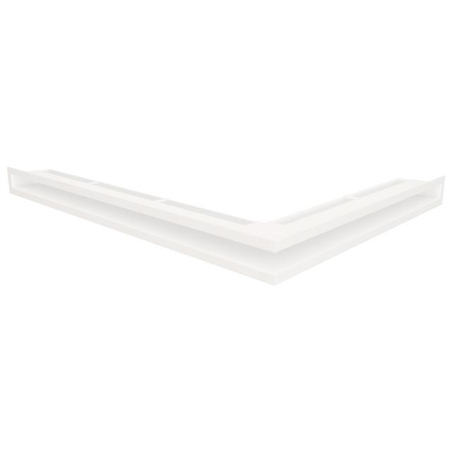 Вентиляційна решітка для каміна кутова ліва SAVEN Loft Angle 60х600х800 біла