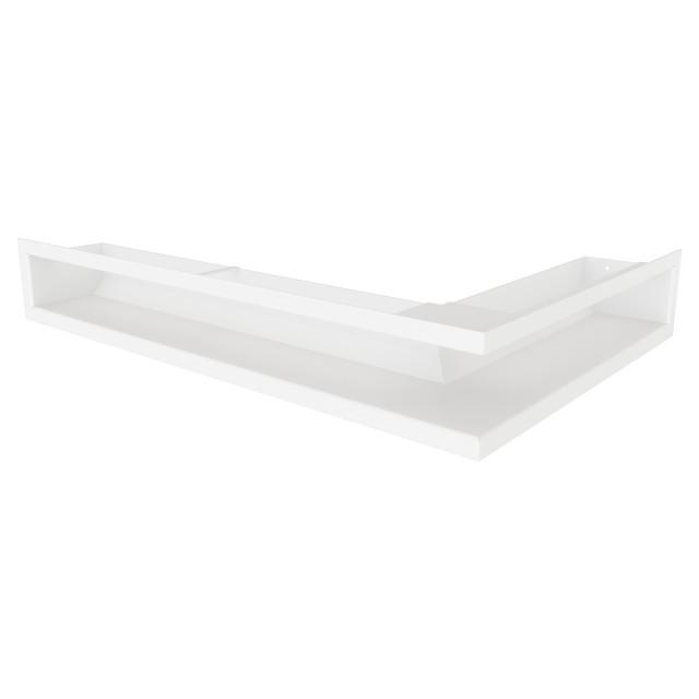 Вентиляційна решітка для каміна кутова ліва SAVEN Loft Angle 90х400х600 біла