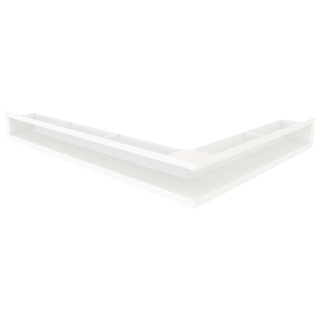 Вентиляційна решітка для каміна кутова ліва SAVEN Loft Angle 90х600х800 біла