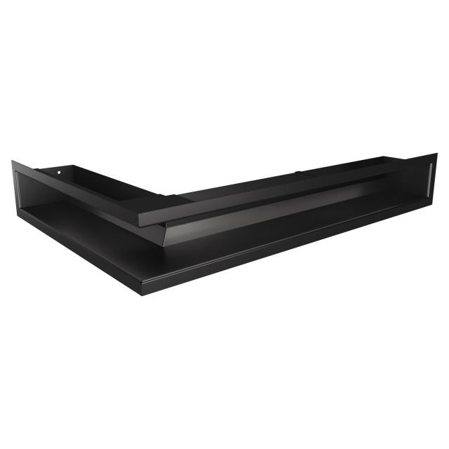 Вентиляційна решітка для каміна кутова права SAVEN Loft Angle 90х600х400 чорна