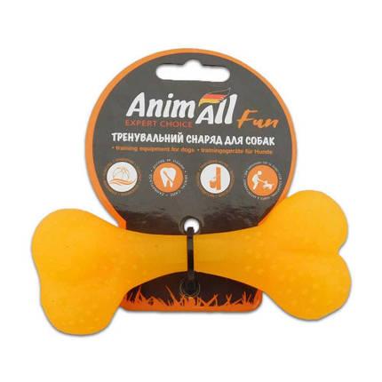 Игрушка AnimAll Fun кость, желтая, 12 см, фото 2