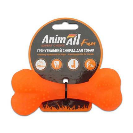 Игрушка AnimAll Fun кость, оранжевая, 12 см, фото 2