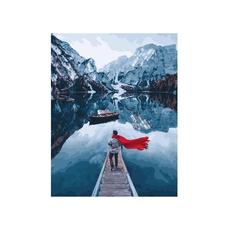 Картина по номерам Озеро Лаго ди Брайес. Сергей Сухов, 40x50 см., Brushme