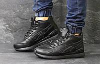 Высокие кроссовки Asics GEL LYTE III кожаные,черные, фото 1