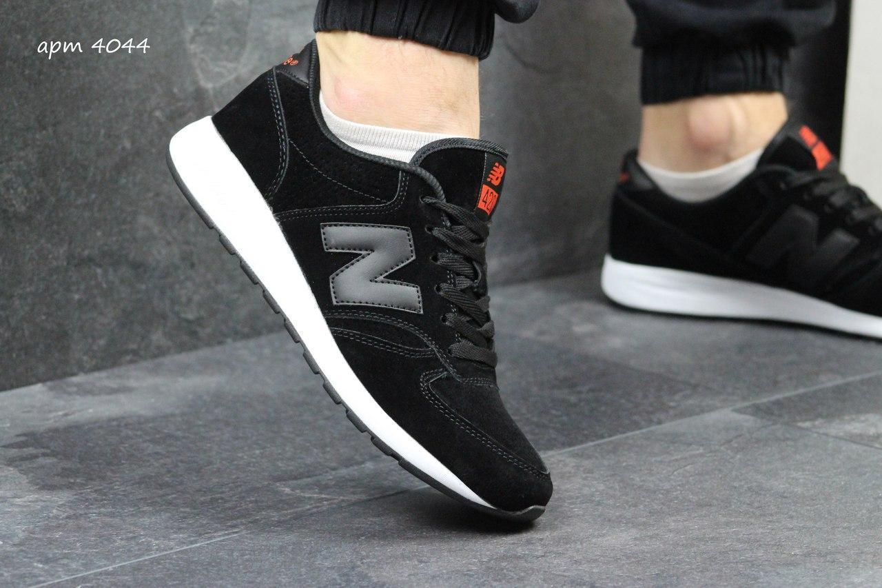 Мужские кроссовки New Balance 420 замшевые,черно-белые 44р