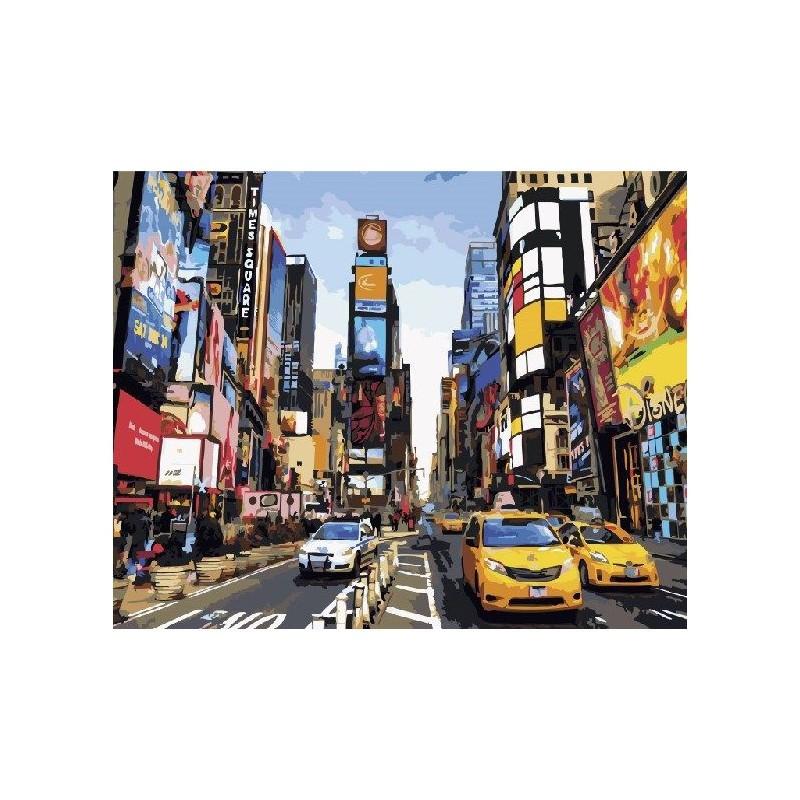 Картина по номерам Жизнь Таймс-сквер, 40x50 см., Brushme