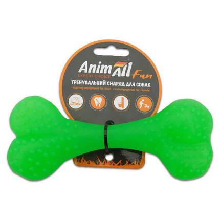 Игрушка AnimAll Fun кость, зеленый, 15 см, фото 2