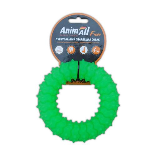 Игрушка AnimAll Fun кольцо с шипами, зеленый, 12 см