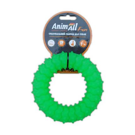 Игрушка AnimAll Fun кольцо с шипами, зеленый, 12 см, фото 2
