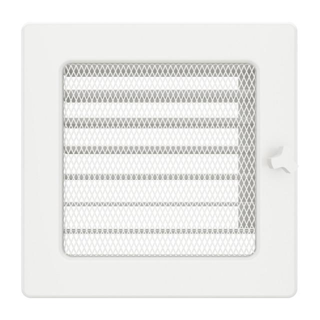 Вентиляційна решітка для каміна SAVEN 17х17 біла з жалюзі