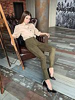 Леггинсы женские, цвет: зеленый, размер: 44, 46, 48