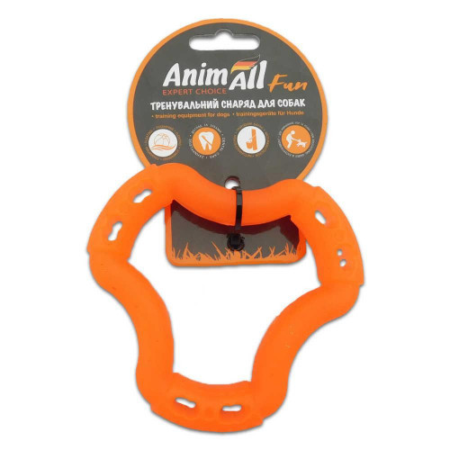 Игрушка AnimAll Fun кольцо 6 сторон, оранжевое, 12 см