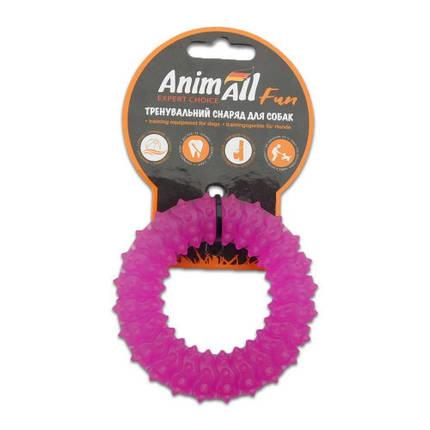 Игрушка AnimAll Fun кольцо с шипами, фиолетовый, 9 см, фото 2