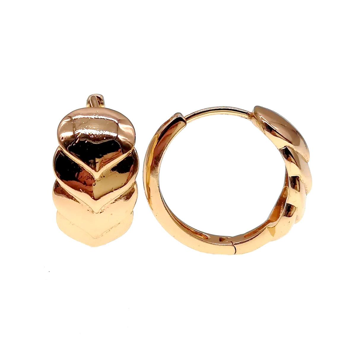 Сережки Xuping з медичного золота, позолота 18К, 23873 (1)