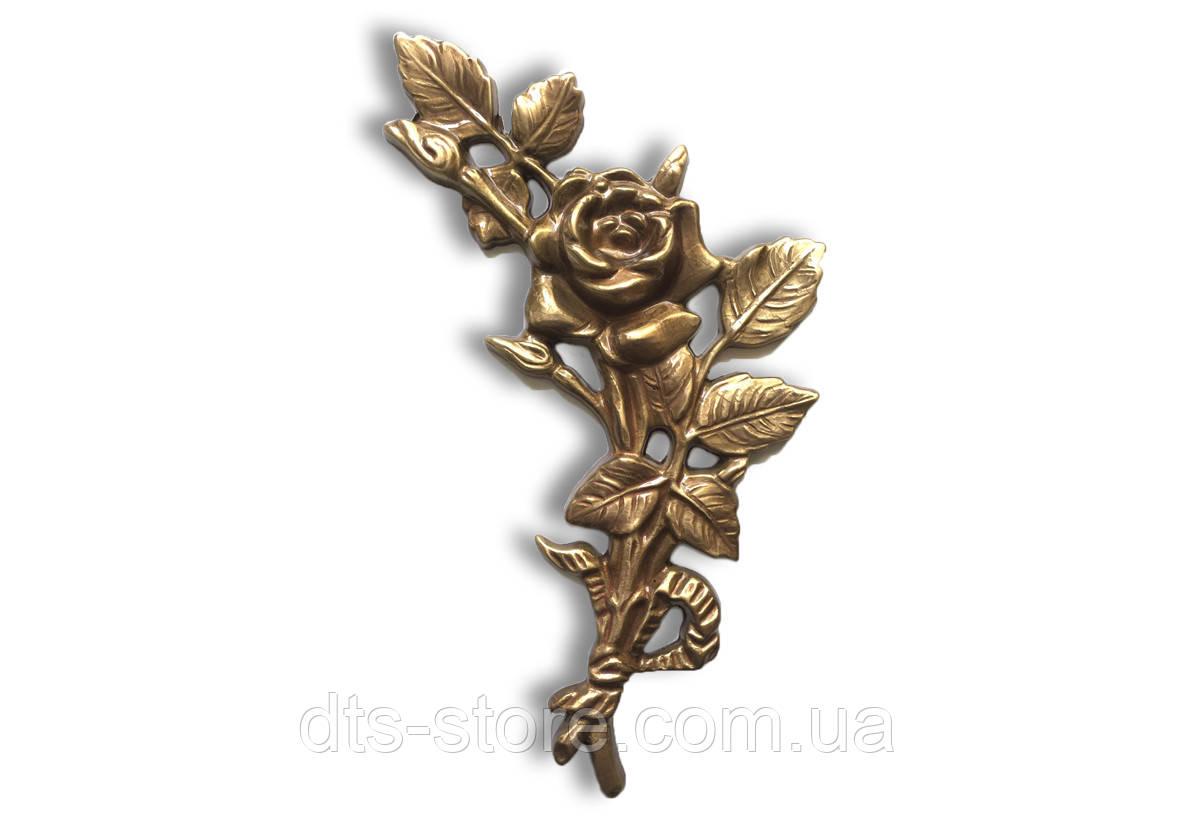 Роза на памятник из бронзы