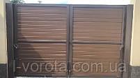 Ворота распашные ш3000, в2000 (полотно из сендвич-панелей), фото 2