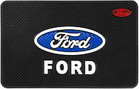 Противоскользящий коврик в машину Ford (20х13 см) (10550)