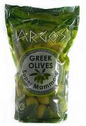 Оливки зелені Argos greek olives в пакеті з кісточкою 900г