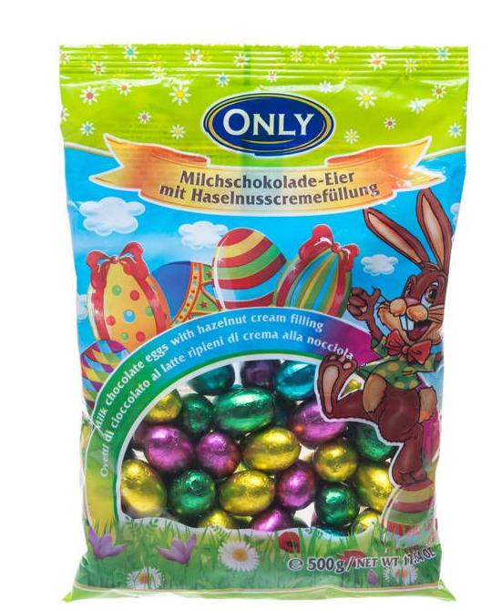 Великодні шоколадні яйця Only 500 g