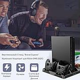 Многофункциональная Док-станция для Xbox One S X Зарядка контроллеров, Охлаждение Консоли, Хранение Дисков, фото 5