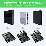 Многофункциональная Док-станция для Xbox One S X Зарядка контроллеров, Охлаждение Консоли, Хранение Дисков, фото 4